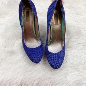 Unbranded Shoes - Unicorn  Rounded Toe Blue Platform Heel Pumps 7